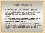 body position
