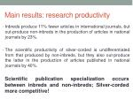 main results research productivity