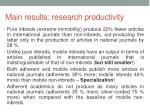 main results research productivity1