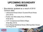 upcoming boundary changes