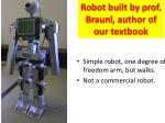 robot built by prof braunl author of our textbook