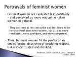 portrayals of feminist women