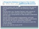 3 prospective solutions to improve poor grades 3 all the above plus additional resources