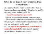 what do we expect from model vs data comparisons