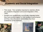 academic and social integration