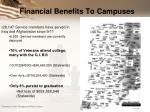 financial benefits to campuses