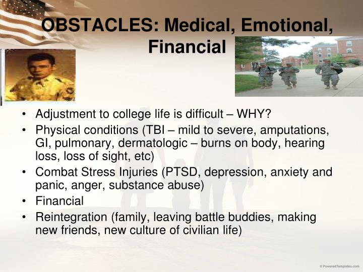 OBSTACLES: Medical, Emotional, Financial
