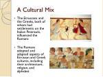 a cultural mix