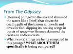 from the odyssey