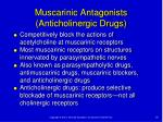 muscarinic antagonists anticholinergic drugs