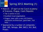 spring 2012 meeting 1