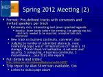 spring 2012 meeting 2