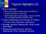 topical highlights 2