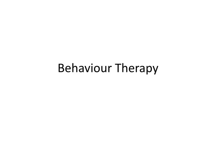 behaviour therapy n.
