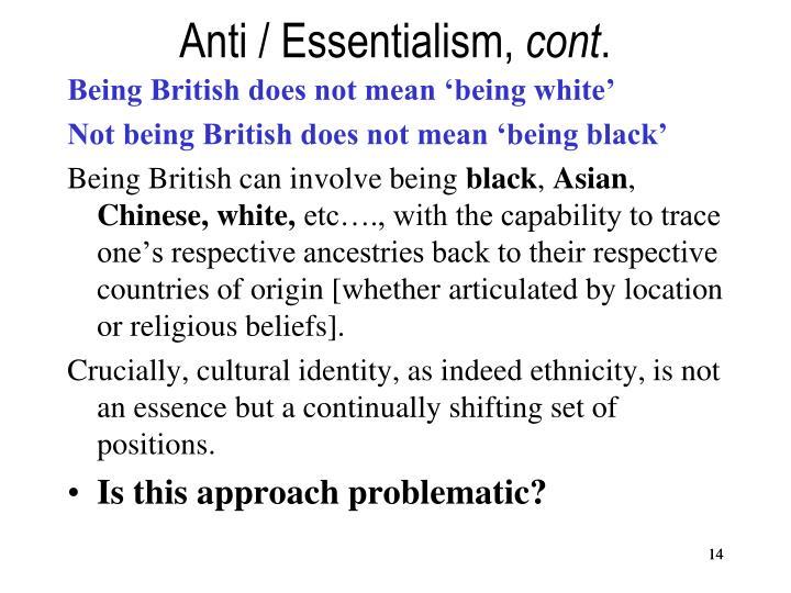 Anti / Essentialism,
