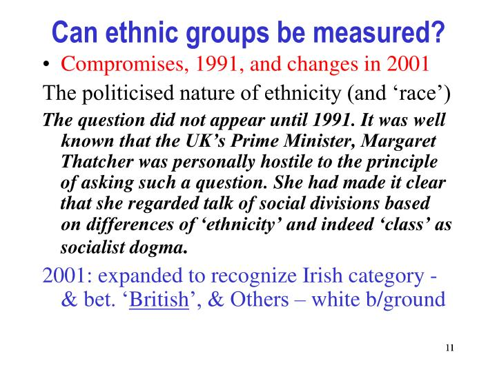 Can ethnic groups be measured?