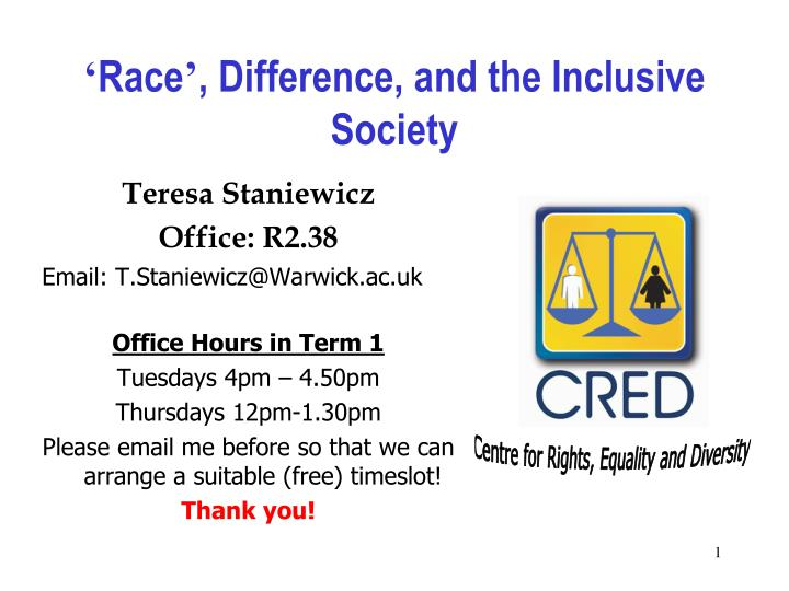 Race difference and the inclusive society