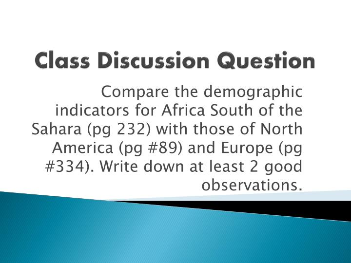 class discussion question n.