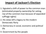 impact of jackson s election