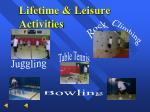 lifetime leisure activities