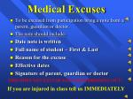 medical excuses