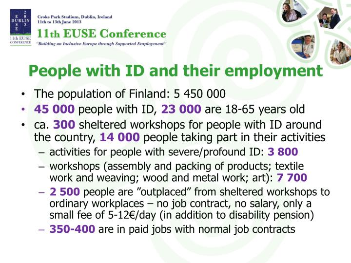 People with id and their employment