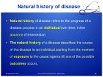 natural history of disease1