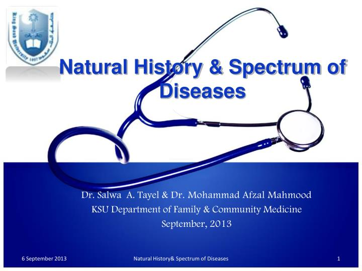 natural history spectrum of diseases n.