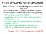 ets1 b developing possible solutions