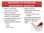 evaluation of model and presentation based on