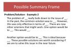 possible summary frame