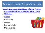 resources on dr cooper s web site