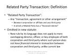 related party transaction definition