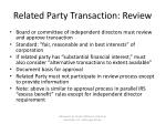 related party transaction review