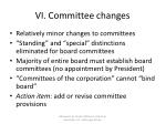 vi committee changes