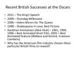 recent british successes at the oscars