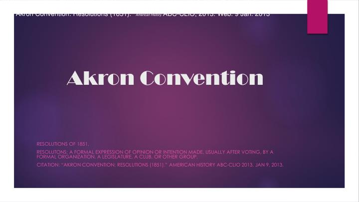 akron convention n.