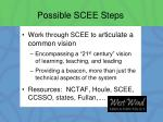 possible scee steps