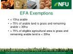 efa exemptions