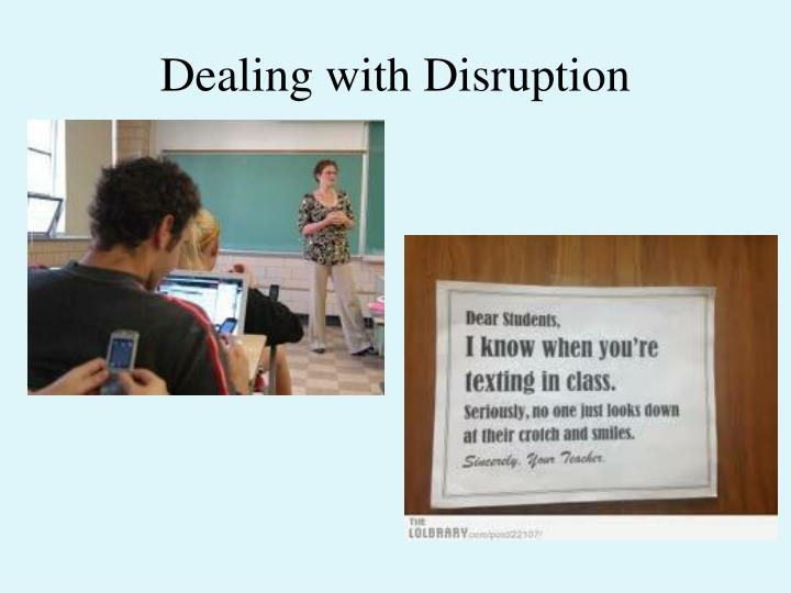 dealing with disruption n.