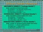 different density measures