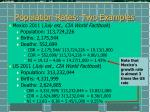 population rates two examples