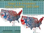 stages 3 4 examples cancer mortality 1950 1994