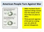american people turn against war