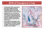 birth of insurgency in iraq