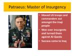patraeus master of insurgency