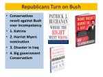republicans turn on bush