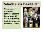 saddam hussein and al qaeda