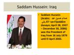 saddam hussein iraq
