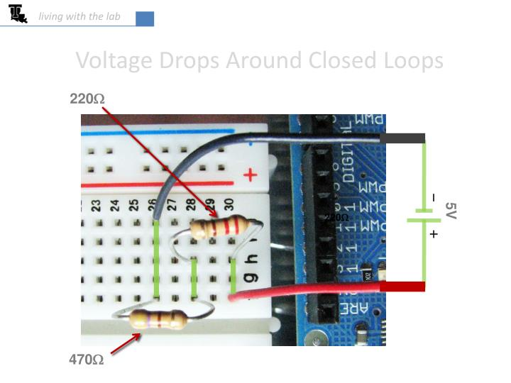 voltage drops around closed loops n.